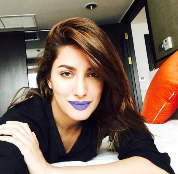 Mehwish Hayat In Purple Lipstick