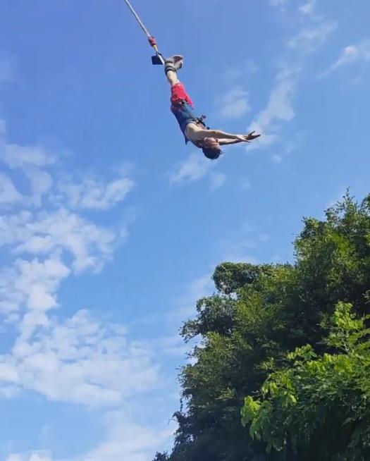 Osman Khalid Butt Bungee Jump