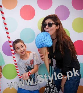 See Pakistani Celebrities at Birthday Party of Momal Sheikh's son