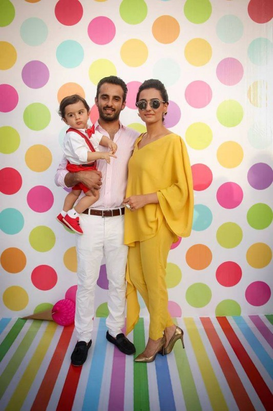 Pictures from birthday party of Momal Sheikh's son (9)
