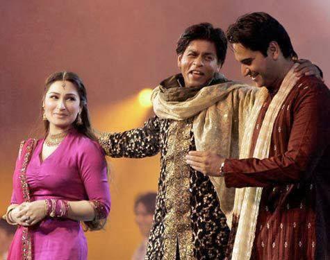 Reema Khan Humayun Saeed and Shah Rukh Khan