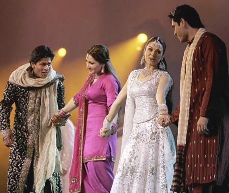 Shah Rukh Khan, Reema Khan, Preity Zinta, Humayun Saeed