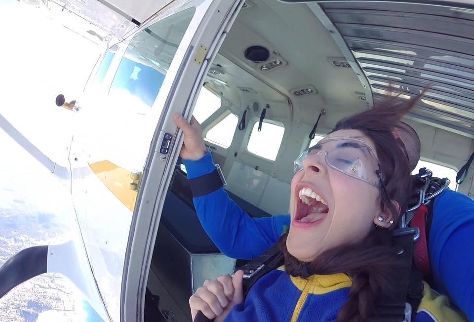 Urwa Hocane Skydiving