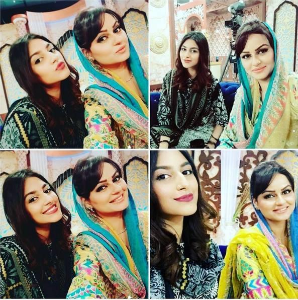 See Javeria Abbasi with her daughter Anzela Abbasi