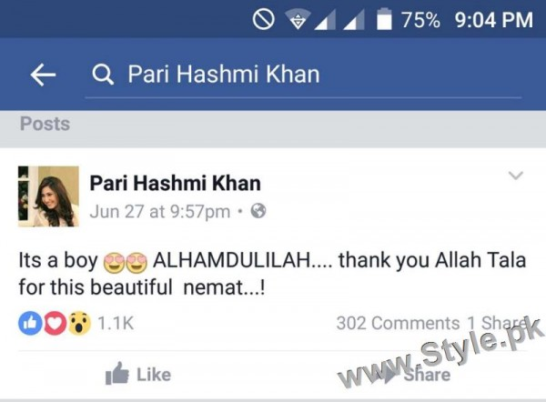 Actress Pari Hashmi is blessed with a baby boy (3)