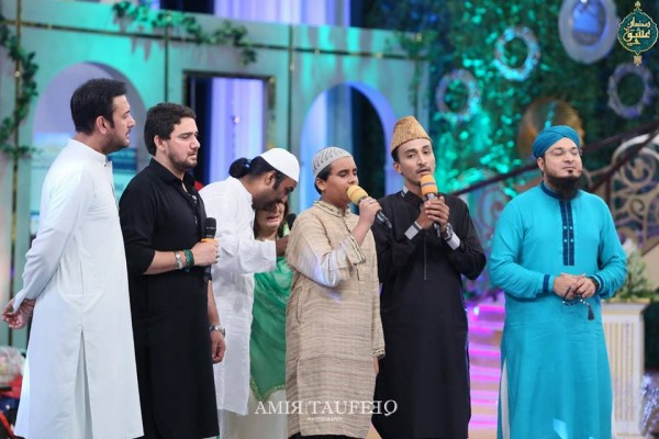 Amjad Sabi's son in Ramzan Transmission (6)