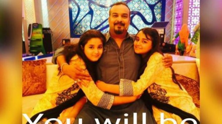 See Amjad Sabri (Late) with his kids