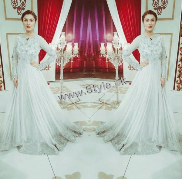 See Ayeza Khan on the set of Mazak Raat Eid show