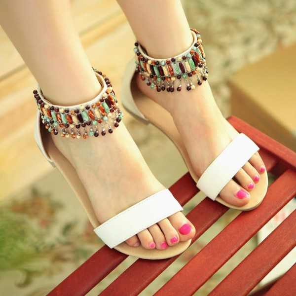 1145c256544 ... Flat Sandals for Eid 2016 (3) factory outlets 63a19 2a155  Fancy DIY  Footwear with Bows 2017 ...
