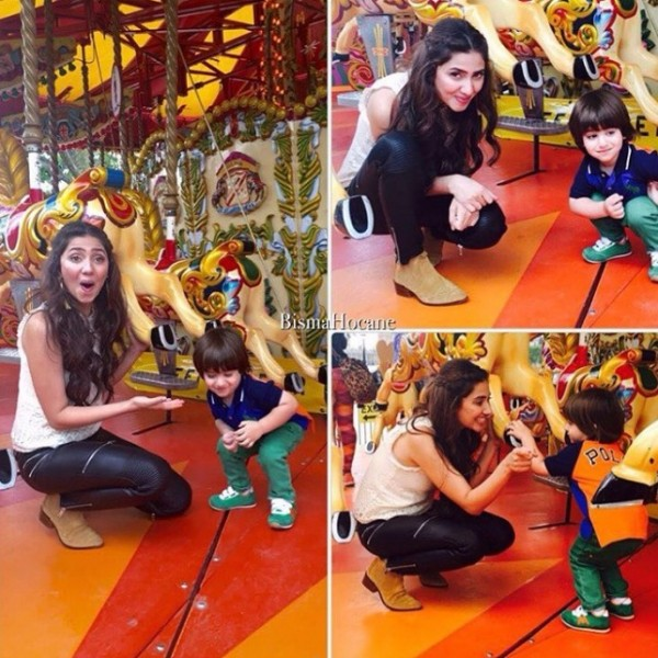 Mahira Khan with fan