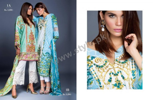 Muzlin Embroidered Unstitched Collection -08