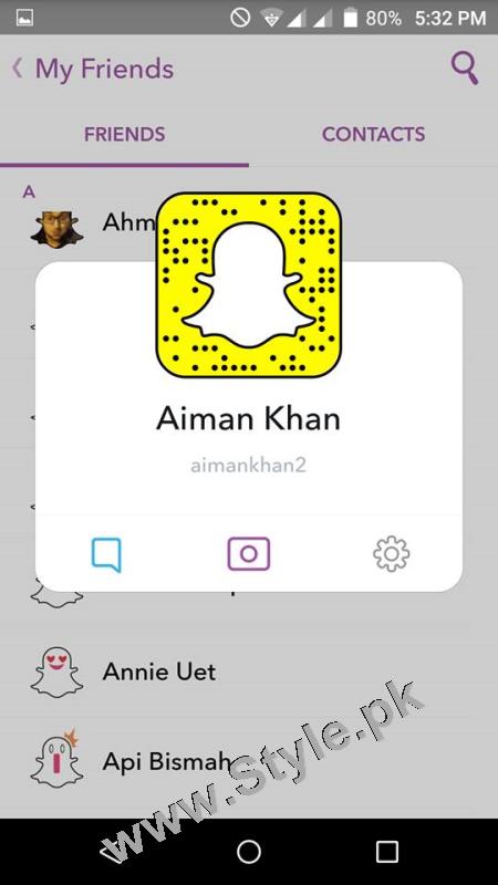 Pakistani Celebrities on Snap Chat (13)