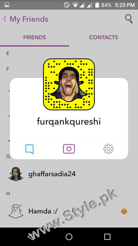 Pakistani Celebrities on Snap Chat (7)