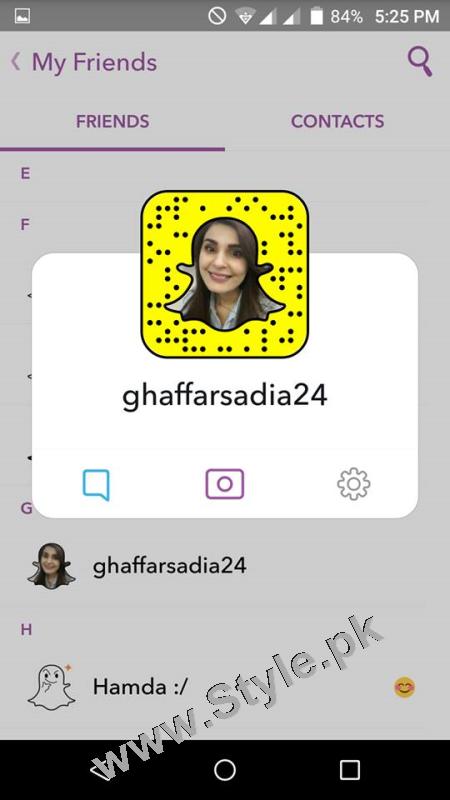 Pakistani Celebrities on Snap Chat (8)