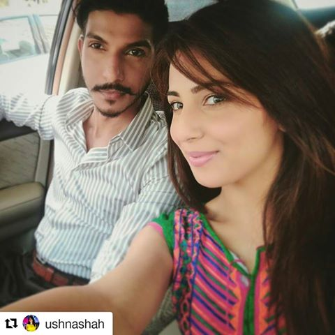 Ushnah Shah and Mohsin Abbas together for Jhoot Wala Love (4)