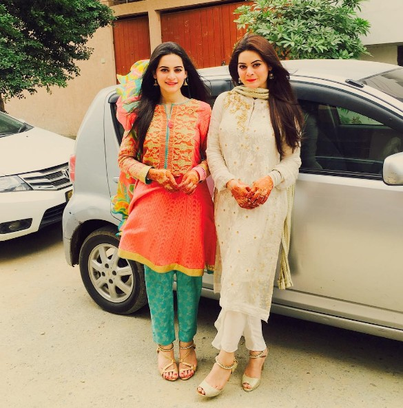 Aiman And Minal Khan On Eid 2016
