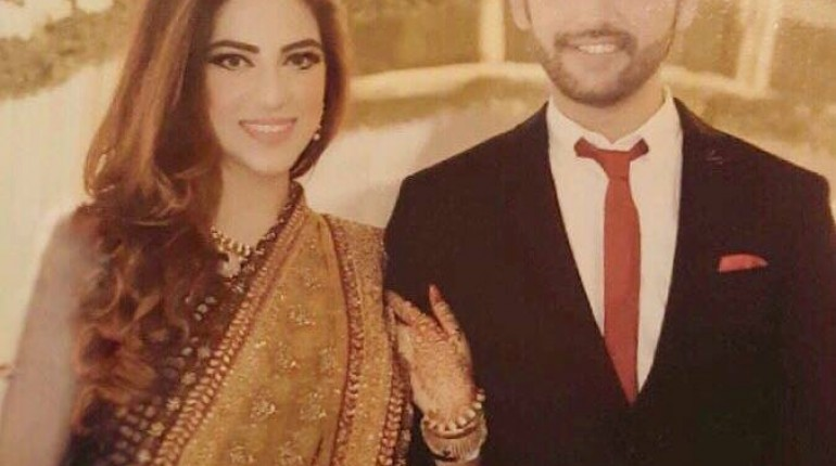 See Amanat Ali with his Fiance on Engagement