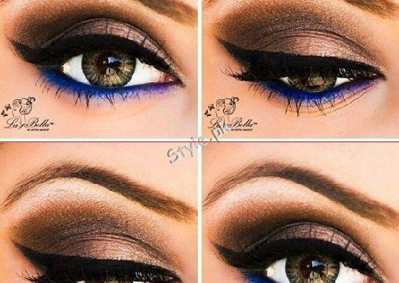 Blue Eyeliner Makeup Ideas easy