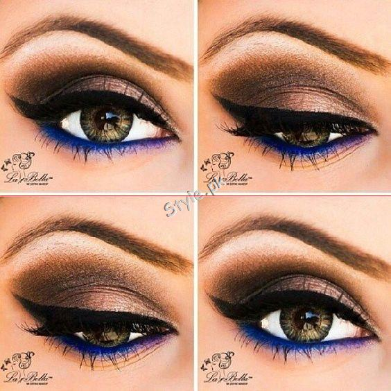 Blue Eyeliner Makeup Ideas And Looks Step By Step Tutorial Style