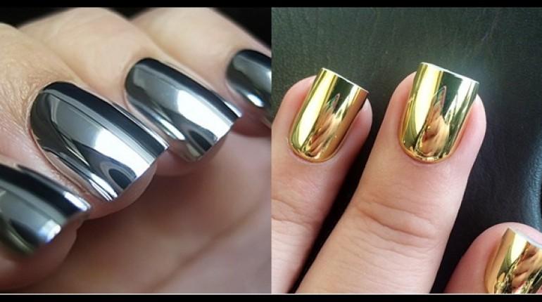 Trend Alert: Mirror Nail Polish is much in fashion