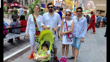 See Nida Yasir is enjoying vacations in USA