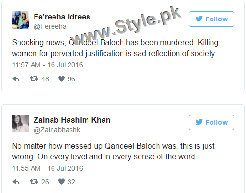 Pakistanis are shocked at Qandeel Baloch's murder (2)