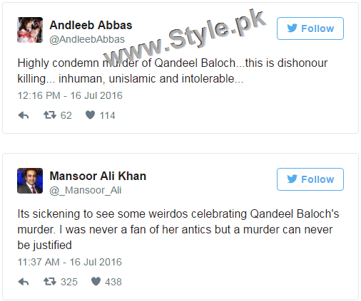 Pakistanis are shocked at Qandeel Baloch's murder (6)