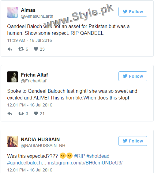 Pakistanis are shocked at Qandeel Baloch's murder (8)