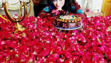 See Actress Rizwana Kamali celebrating her birthday
