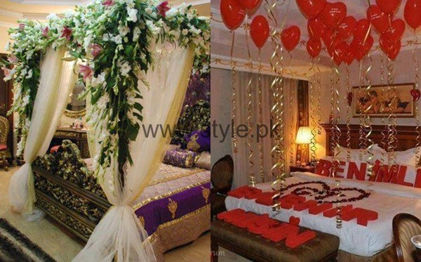 Bridal wedding room decoration ideas 2016 style pk for Asian wedding room decoration