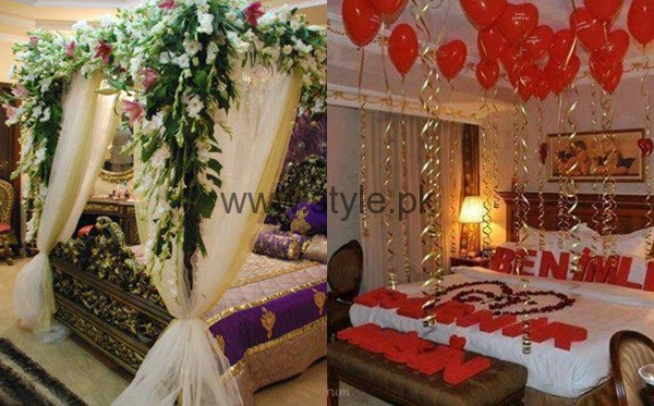 Bridal wedding room decoration ideas 2016 for Wedding day room decoration