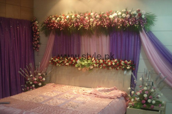 Bridal wedding room decoration ideas 2016 style pk for Bed decoration with flowers and balloons