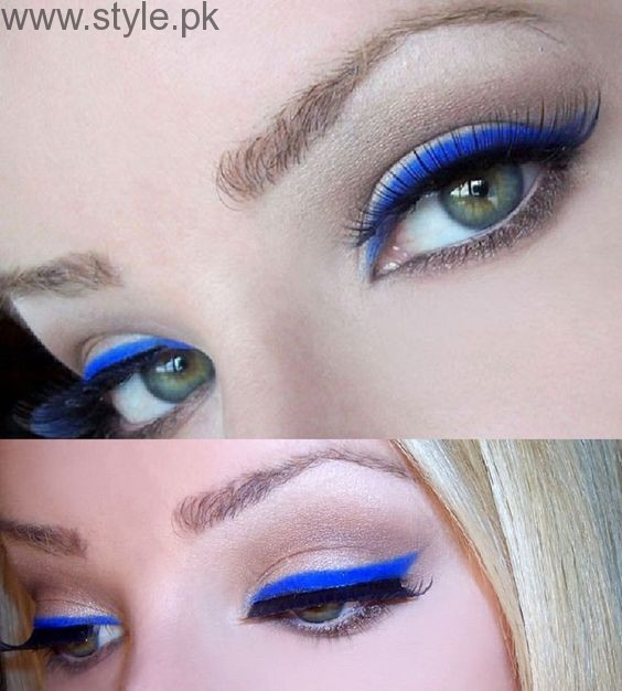Colorful Eyeliner trends 2016 in Pakistan (10)