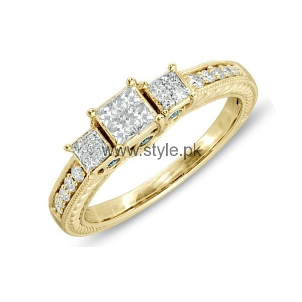 Engagement Gold Rings 2016 for Girls