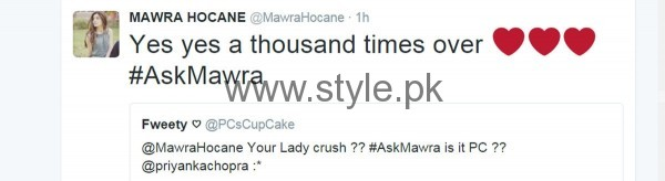 Fans asked strange Questions from Mawra Hocane in #AskMawra Session (2)
