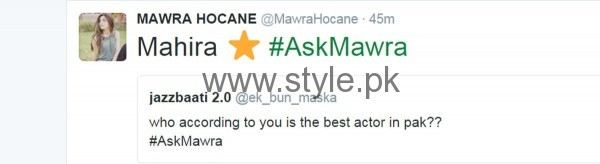 Fans asked strange Questions from Mawra Hocane in #AskMawra Session (4)