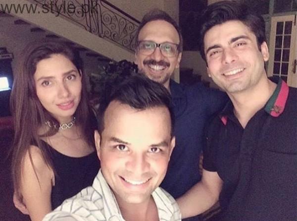 Fawad and Mahira At Asim Raza Birthday