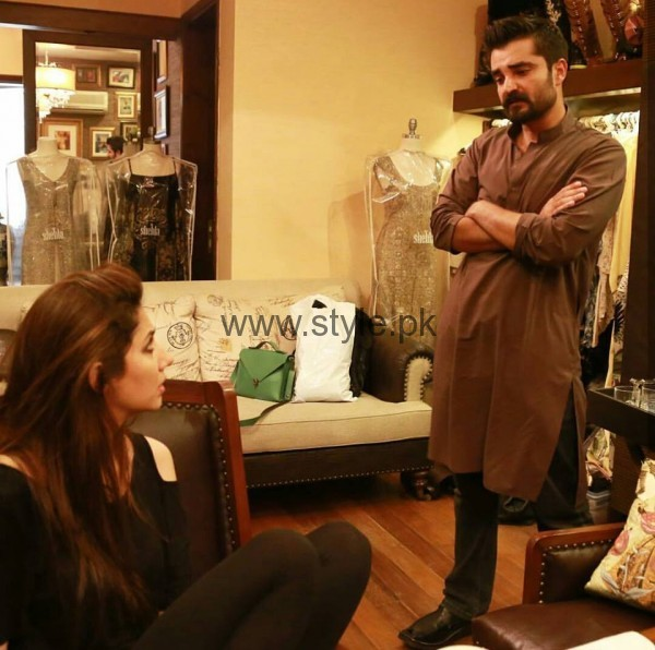 Hamza Ali Abbasi and Mahira Khan are busy in their latest Photo Shoot (2)