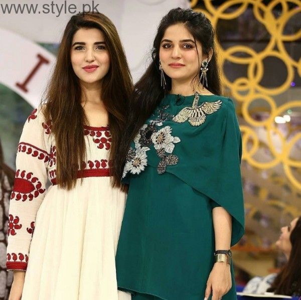 Hareem Farooq In Sanam Baloch Morning Show