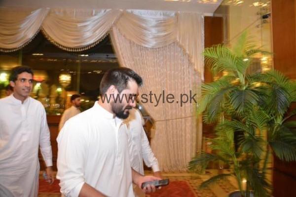 Imran Khan at Hamza Ali Abbasi's sister's Wedding (4)