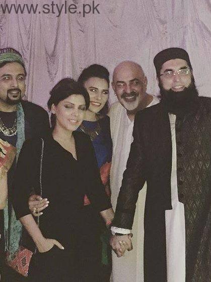 Junaid Jamshed With Hadiqa Kiani