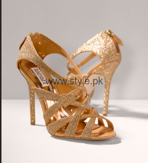 Gold Shoes For Wedding 6 Trend Latest Bridal Golden High