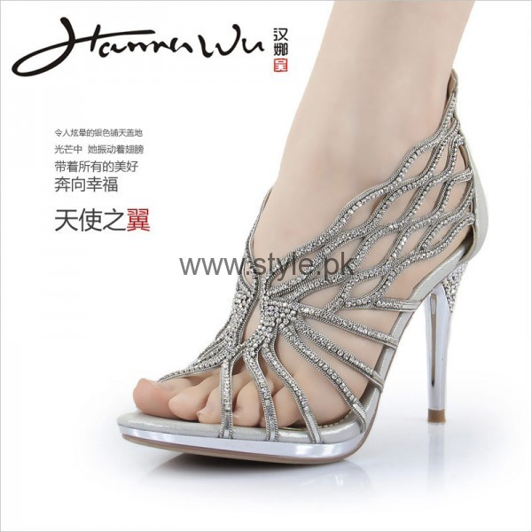 Latest Bridal Silver High Heels 2016  (10)