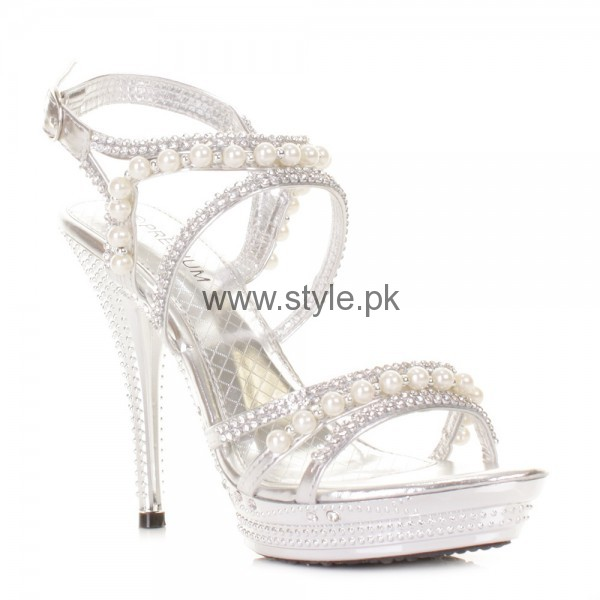 Latest Bridal Silver High Heels 2016  (11)