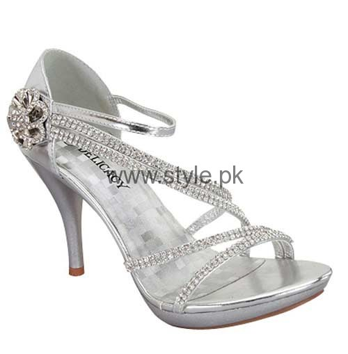 Latest Bridal Silver High Heels 2016  (12)