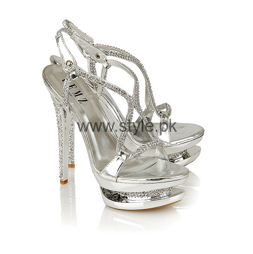 Latest Bridal Silver High Heels 2016  (13)