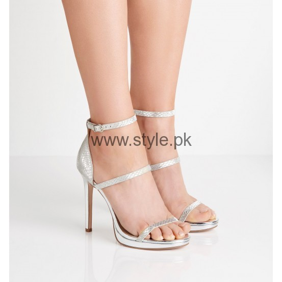 Latest Bridal Silver High Heels 2016  (1)