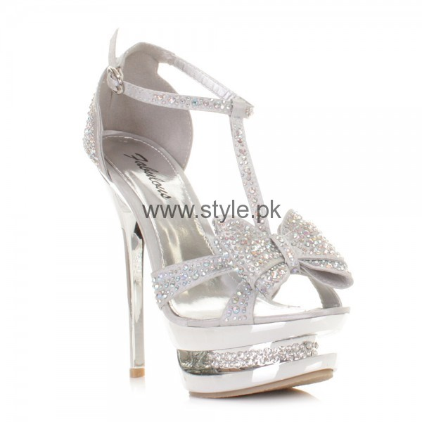 Latest Bridal Silver High Heels 2016  (3)