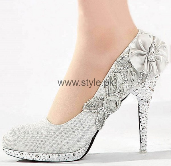 Latest Bridal Silver High Heels 2016  (4)