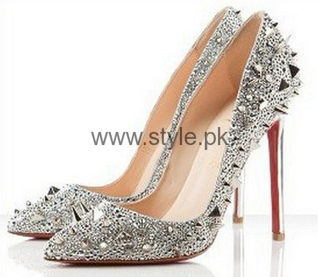 Latest Bridal Silver High Heels 2016  (7)